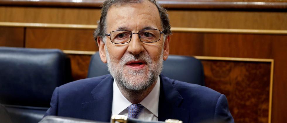 Spaniens Noch-Ministerpräsident Mariano Rajoy bei der Parlamentsdebatte über seine Wiederwahl