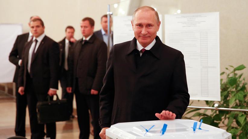 Russland: Für wen er gestimmt hat, ist kein Geheimnis: Wladimir Putin