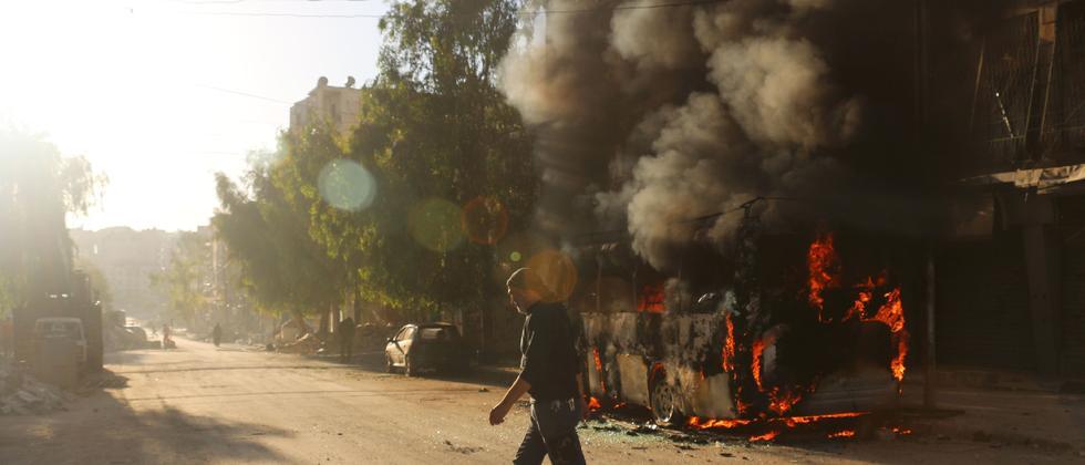 Im Salahedin-Viertel von Aleppo