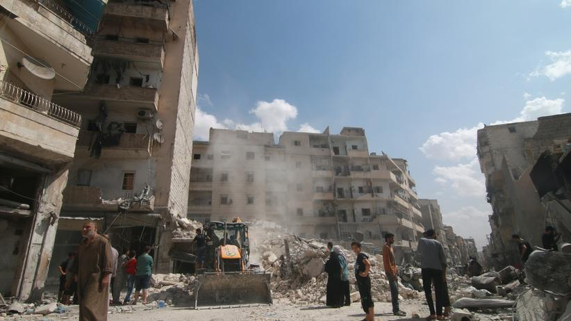 Syrien: Zerstörte Häuser in der syrischen Stadt Aleppo