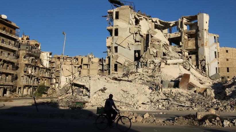 Syrien Aleppo Radfahrer