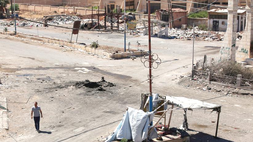 Syrien: Die syrische Stadt Dael nach einem Luftangriff