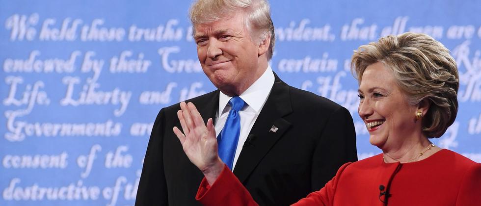 TV-Duell US-Wahl Hillary Clinton Donald Trump
