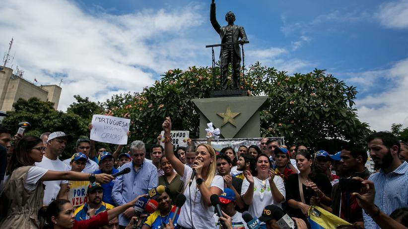 Venezuela Opposition Demonstranten