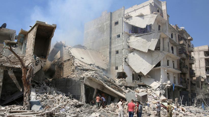 Bürgerkrieg: Zerstörtes Haus in Aleppo