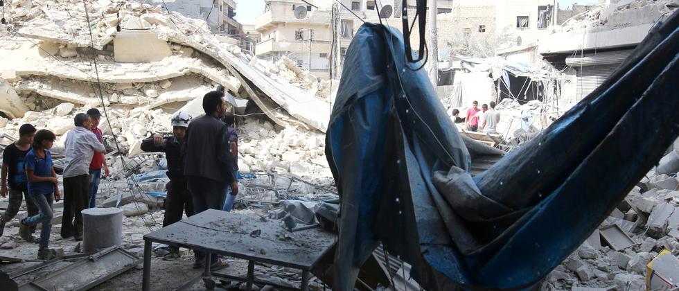 aleppo, luftangriffe, syrien