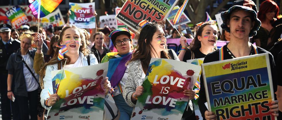 Australien Homo-Ehen Demo