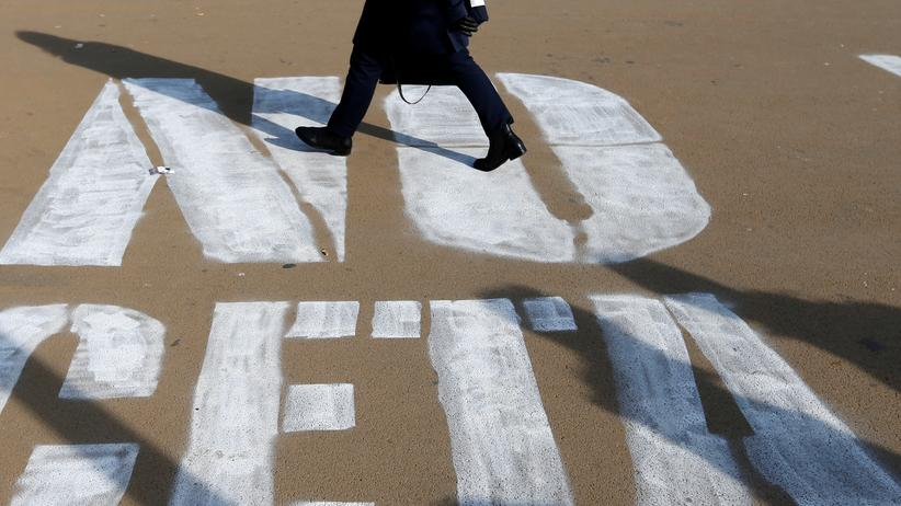 Europäische Union: Gesprühter Protest gegen Ceta auch auf den belgischen Straßen