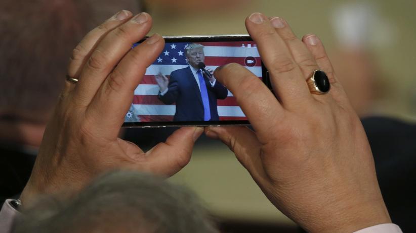 Donald Trump auf einer Wahlkampfveranstaltung am 6. Oktober