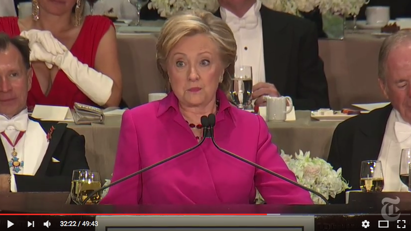 Donald Trump Hillary Clinton Dinner New York