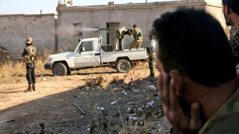 """""""Islamischer Staat"""": Kämpfer der Freien Syrischen Armee am 15. Oktober vor Dabiq"""