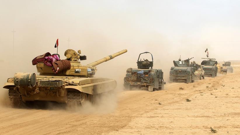 Kampf gegen den IS: Irakische Truppen in der Nähe von Mossul