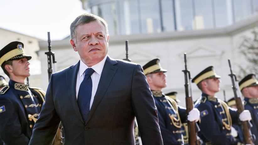 Jordanien: Der jordanische König Abdullah II. während eines Staatsbesuchs im Kosovo