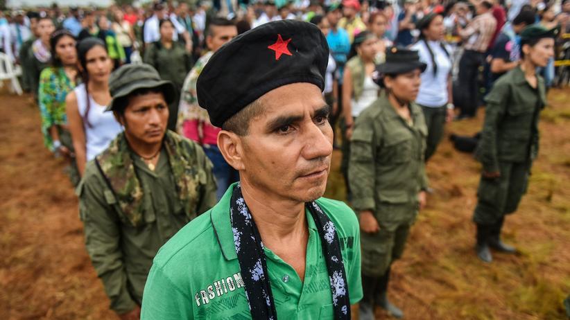 Kolumbien: Ein Mitglied der Farc während der Eröffnung der Nationalen Guerilla-Konferenz am 17. September