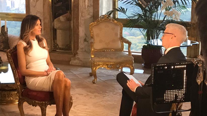 US-Wahlen: Melania Trump im Interview mit dem CNN-Moderator Anderson Cooper