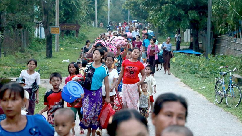Myanmar Bangladesh Unruhen
