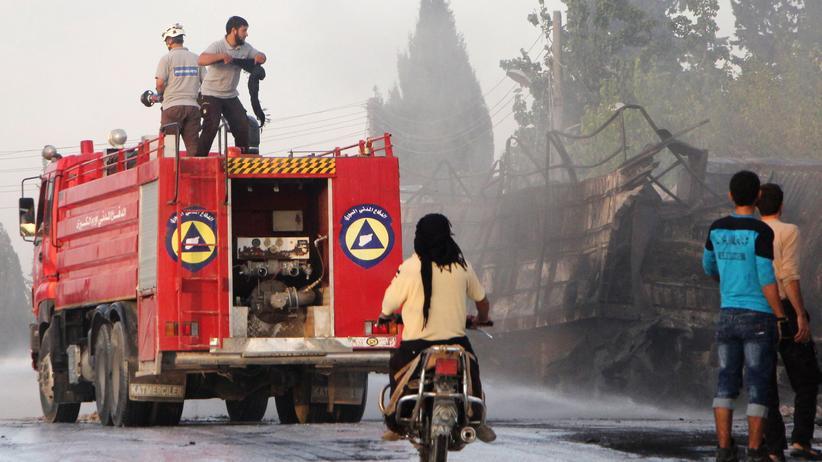Syrien-Konflikt: Im September traf ein tötlicher Luftangriff einen Hilfskonvoi für die syrische Stadt Aleppo.