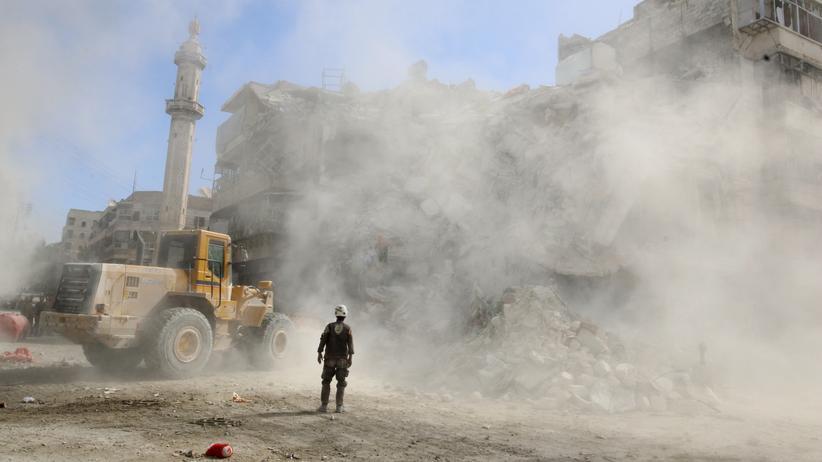 Wladimir Putin: Schutt wegräumen in Aleppo. Seit Wochen wird die Stadt systematisch zerstört.