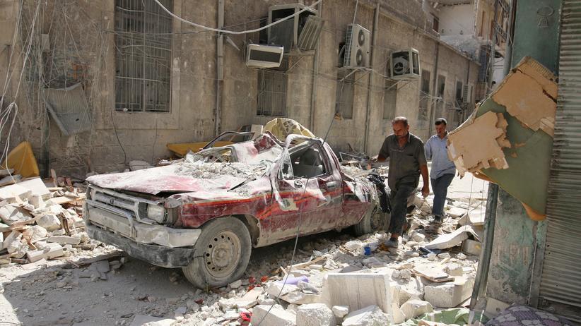 Syrien: Nach einem Luftangriff im östlichen Teil der syrischen Stadt Aleppo