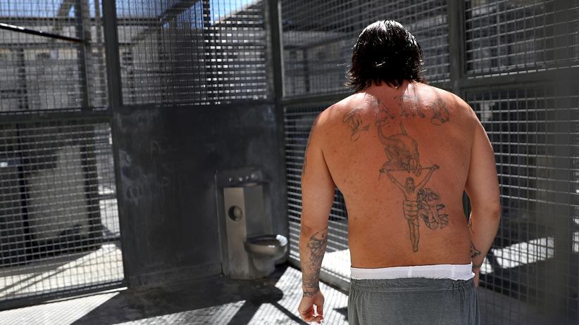 Europaparlament: Ein zum Tode verurteilter Mann im Gefängnis von San Quentin, Kalifornien