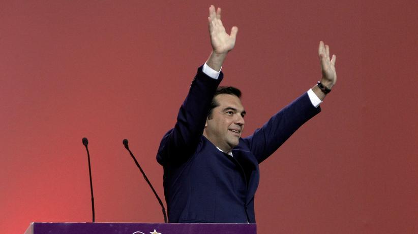 Griechenland: Der griechische Ministerpräsident und Syriza-Chef Alexis Tsipras beim Parteitag in Athen (Bild vom 13. Oktober)