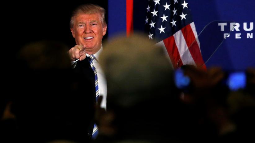 Donald Trump: Donald Trump während seiner Rede in Gettysburg