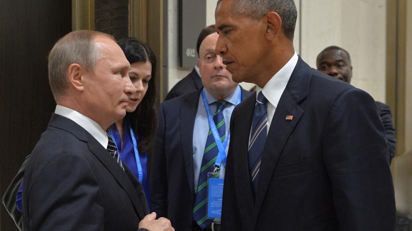 Hacking: Der russische Präsident Wladimir Putin (li.) und US-Präsident Barack Obama (rechts) (Archivbild)