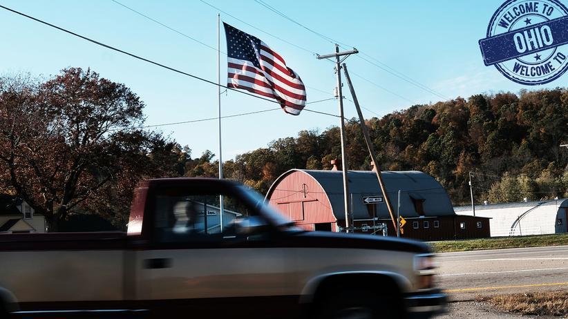 Armut in den USA: Hauptsache, die Fahne weht noch. Viele Menschen in Ohio sind von Armut betroffen.