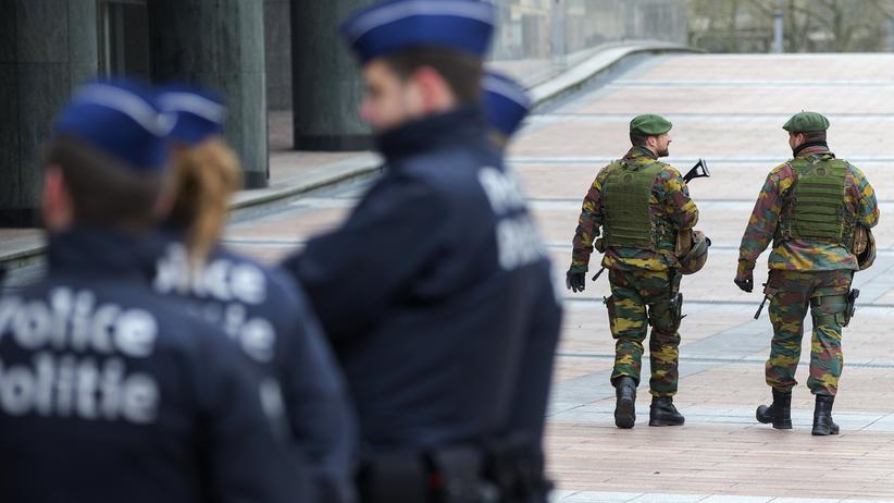 Belgische Sicherheitskräfte in Brüssel.