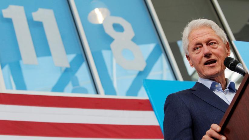 Bill Clinton: Der frühere US-Präsident Bill Clinton bei einem Wahlkampfauftritt für seine Frau Hillary Clinton