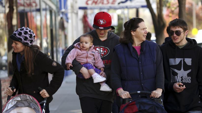 US-Präsidentschaftswahl: Straßenszene in San Francisco