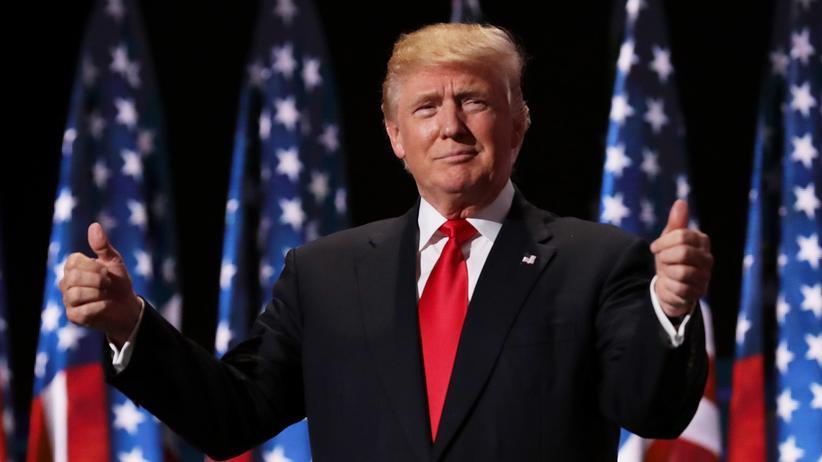Donald Trump: Donald Trump während des Parteikonvents der Republikaner im Juli 2016