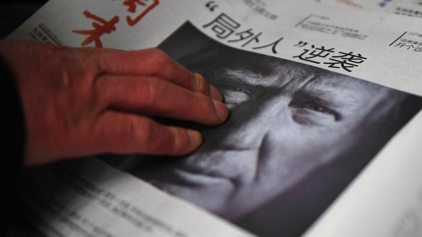"""Außenpolitik unter Donald Trump: """"Außenseiter schlägt zurück"""" steht nach der Wahl von Donald Trump auf dem Titel einer chinesischen Zeitung."""