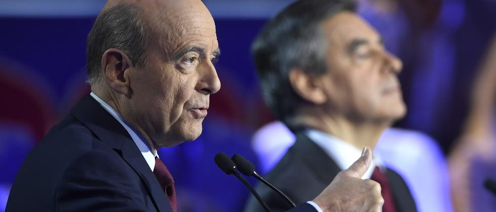 Alain Juppé (l.) und Nicolas Sarkozy sind die aussichtsreichsten Bewerber.