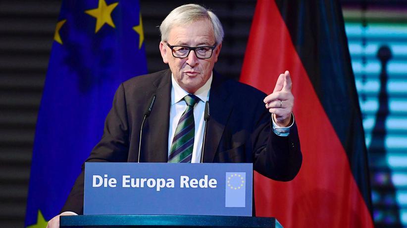 Jean-Claude Juncker bei seiner Rede in Berlin