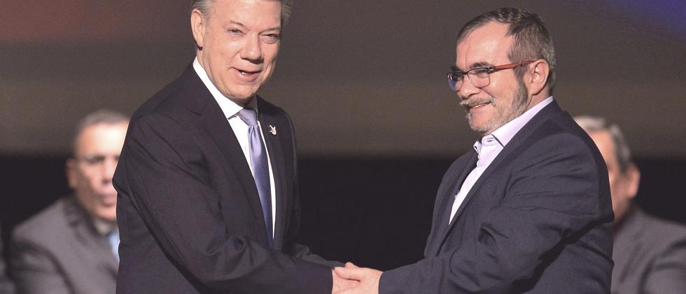 Juan Manuel Santos FARC Rodrigo Timochenko Londoño