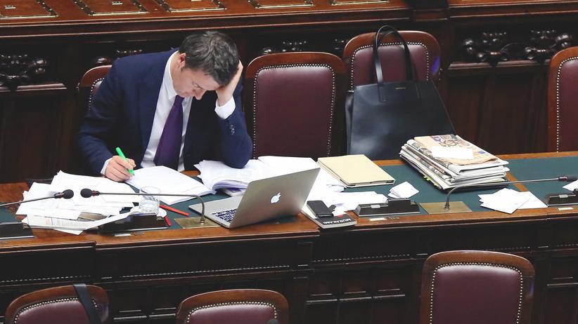 Verfassungsreform: Italiens Ministerpräsident Matteo Renzi (2014)