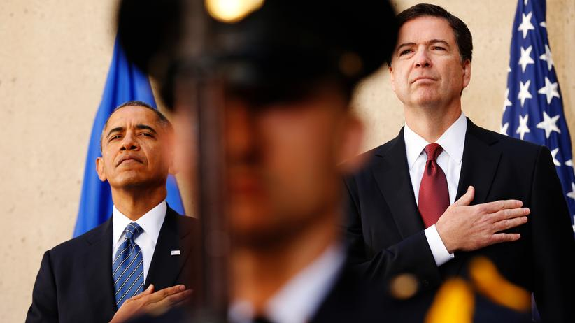 Wahlkampf in den USA: Barack Obama (l.) und FBI-Direktor James Comey