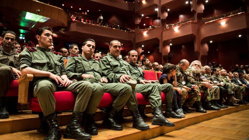 Palmyra: Die vorderen Reihen in der Damaszener Oper sind reserviert für Veteranen.