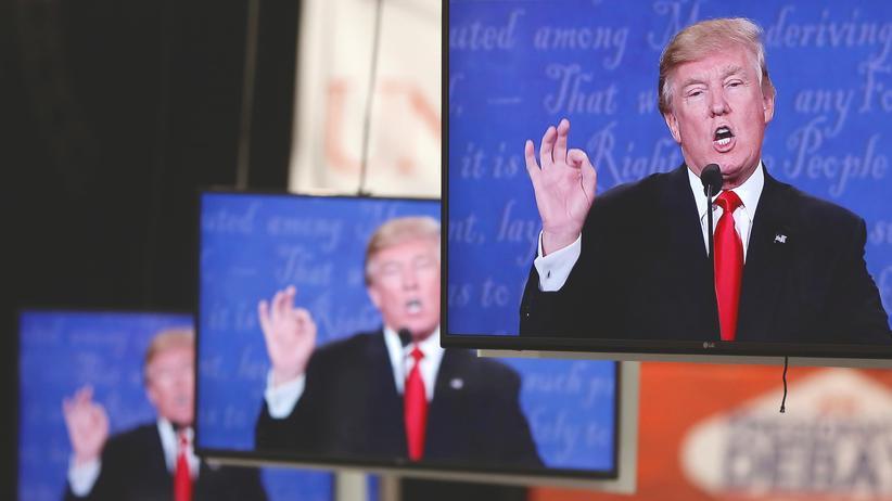 Donald Trump und die Medien: Wie er es mag: Trump auf allen Bildschirmen.