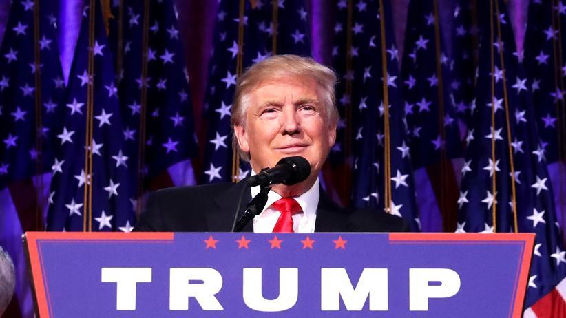 Wahlergebnis: Donald Trump während seiner ersten Ansprache als Wahlsieger