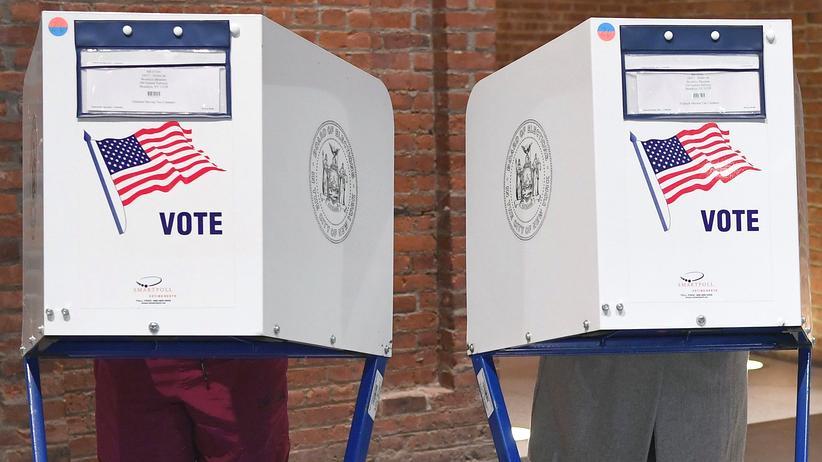 Wahlsystem in den USA: Wähler in Brooklyn, New York