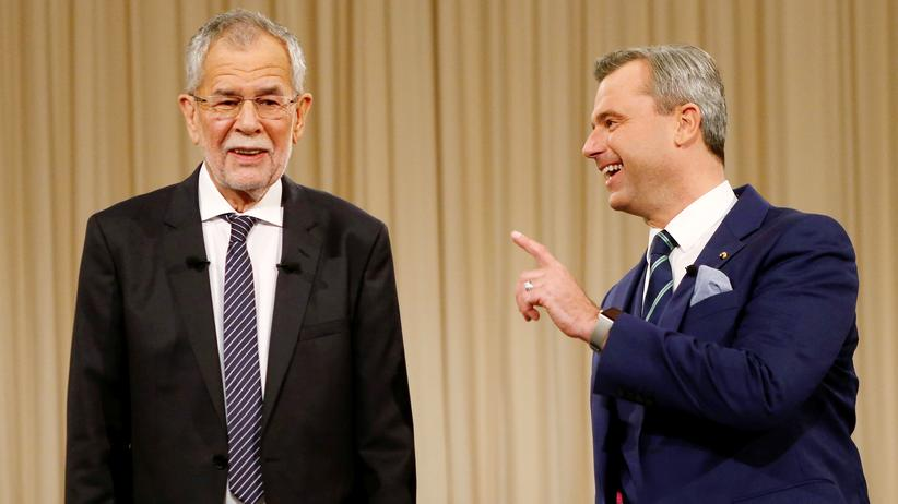 Hören, was bewegt: Der grüne Präsidentschaftskandidat Alexander Van der Bellen und Norbert Hofer von der FPÖ.