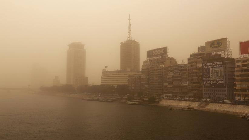 Ägypten:Sandsturm in Kairo