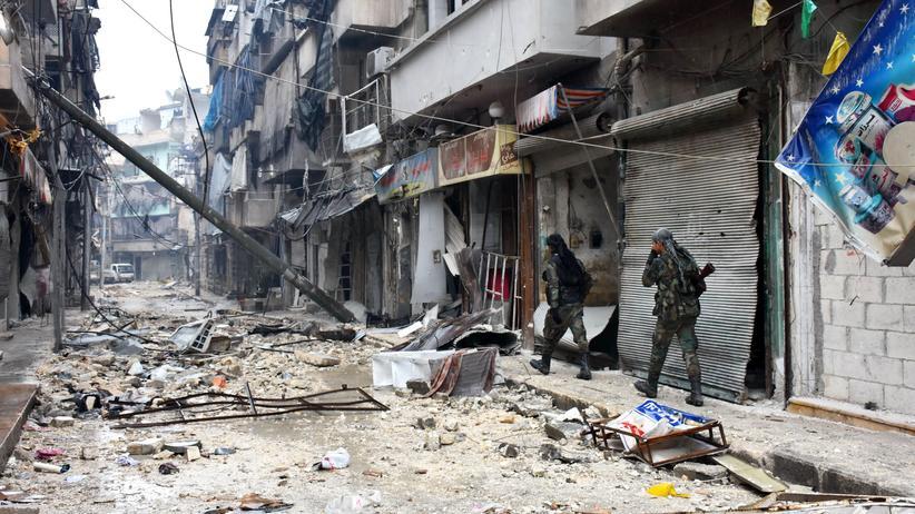 Syrien: Syrische Regierungstruppen im Osten von Aleppo