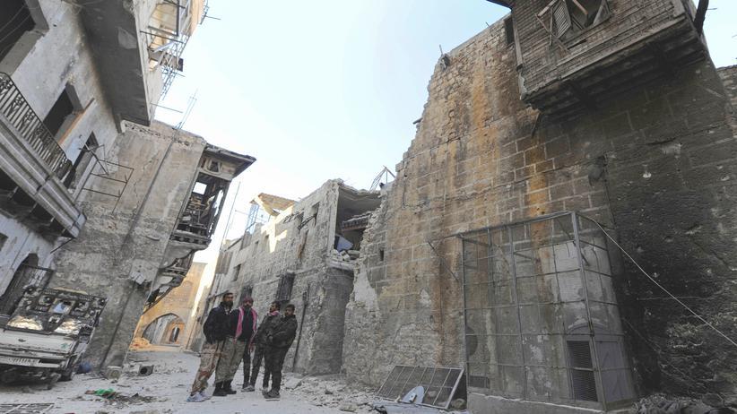 Aleppo Syrien Außenministertreffen Syrien Paris