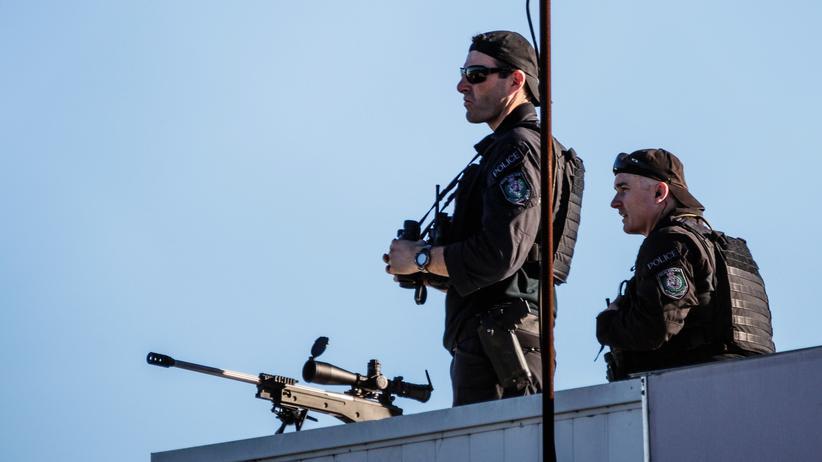 Innere Sicherheit: Scharfschützen auf dem Dach des Flughafens in Sydney (Archiv)
