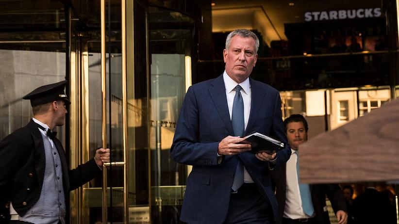 Bill de Blasio: Brooklyn vs. Trump Tower