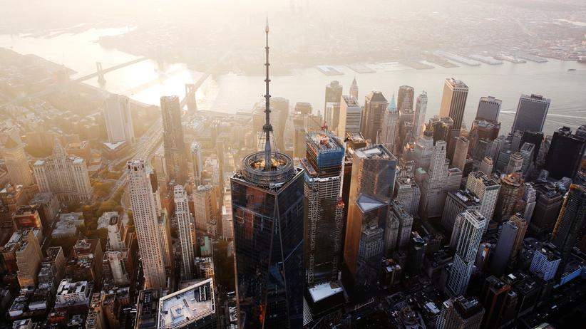 Donald Trump : Blick auf Manhattan