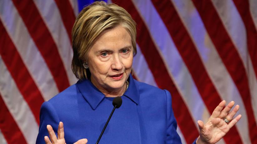 Fake News: Die frühere Außenministerin Hillary Clinton bei einer Rede im Kapitol